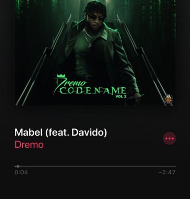 Dremo ft. Davido – Mabel